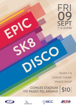 Sk8 Disco 2016 Poster