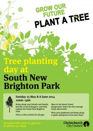 South New Brighton Tree Planting Poster WEB